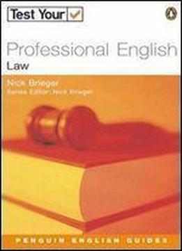 Test Your Professional English Law (penguin English)