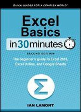 Excel Basics In 30 Minutes (2nd Edition): The Beginner's Guide To Microsoft Excel And Google Sheets