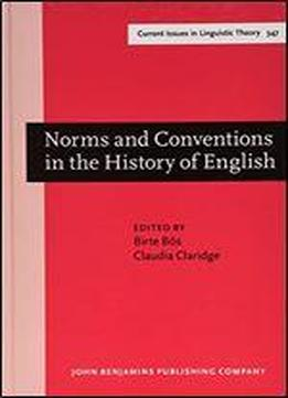 Norms And Conventions In The History Of …