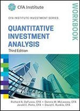 Quantitative Investment Analysis Workbook