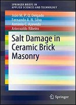 Salt Damage In Ceramic Brick Masonry (springerbriefs In Applied Sciences And Technology)