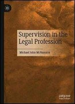 Supervision In The Legal Profession