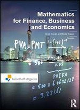 Mathematics For Finance, Business And Economics