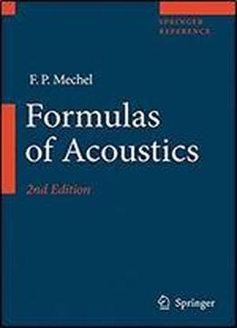 Formulas Of Acoustics (springer Reference)