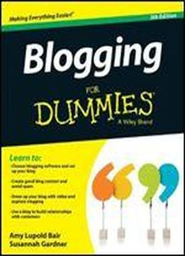 Blogging For Dummies (5th Edition)