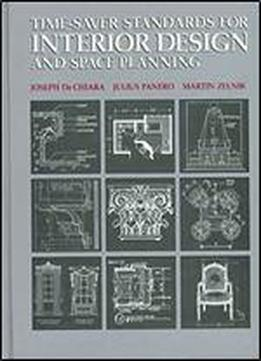 Time-saver Standards For Interior Design And Space Planning, 1st Edition