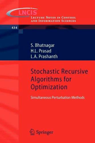Stochastic Recursive Algorithms for Optimization: Simultaneous Perturbation Methods