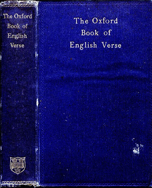 Arthur Quiller-Couch, The Oxford Book of English Verse, 1250-1900